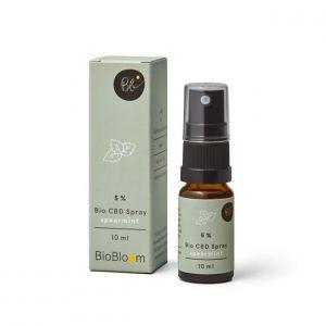 BioBloom 5% Spray de CBD orgánico de menta verde 10ml