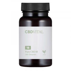 CBD Vital Pure CBD 18 Cápsulas 10%.