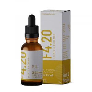 Aceite de CBD 13% con sabor a canela y vitamina E