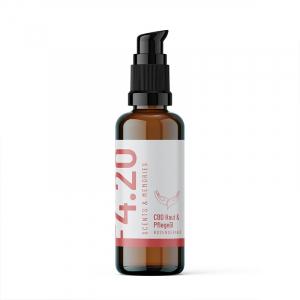 Aceite de CBD para la piel y el cuidado de geranio rosa